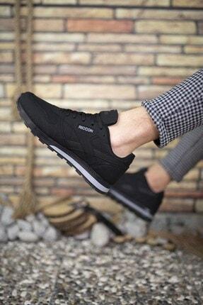 Riccon Siyah Siyah Unisex Cilt Sneaker 0012853 1