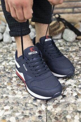 Riccon Lacivert Unisex Cilt Sneaker 0012853 2