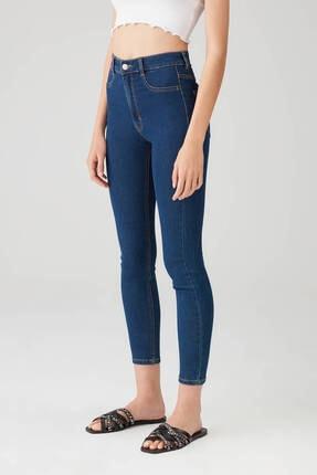Pull & Bear Kadın Camgöbeği Yüksek Bel Skinny Jean 09684309 3