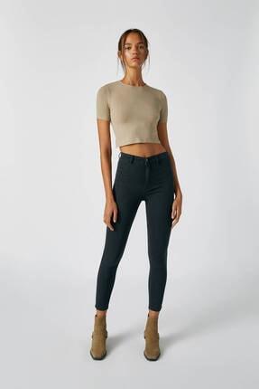 Pull & Bear Kadın Siyah Yüksek Bel Skinny Fit Jean 09684309 0