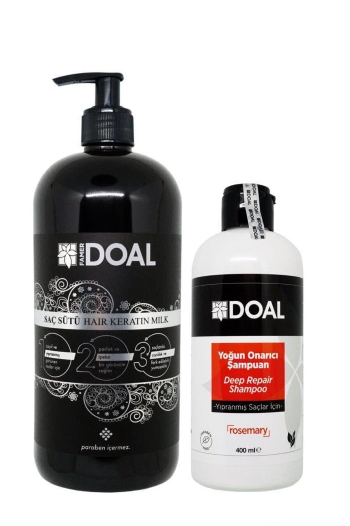 Keratin Sütü 1000ml + Yıpranmış Saçlar Için Yoğun Onarıcı Şampuan 400 Ml