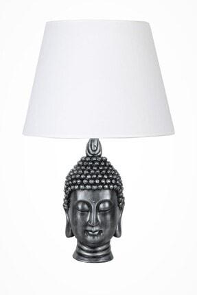 Modern Dizayn Büyük Buda Abajur Gümüş Beyaz qdecbbudaabj029