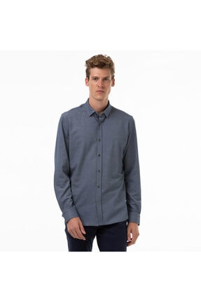 Erkek Slim Fit Lacivert Slim Fit Gömlek CH0953