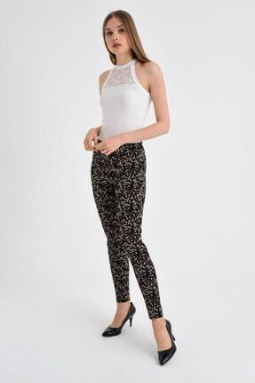 Jument Kadın Fuşya Çiçek Pantolon 40002 2