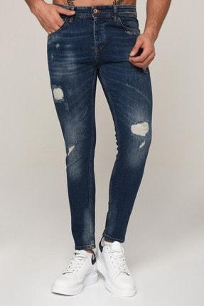 Erkek Mavi Dar Paça Slim Fit Kot Pantolon 3std02075-003 3STD02075-003