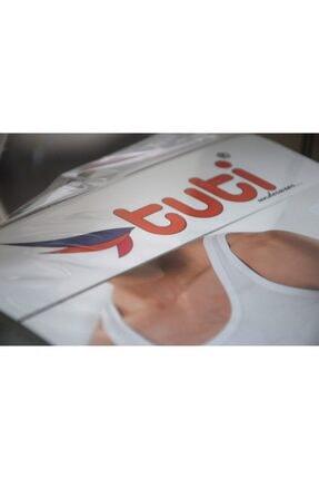 Tuti Underwear Erkek Beyaz Pamuk 6 Adet Klasik Penye Erkek Atlet 3