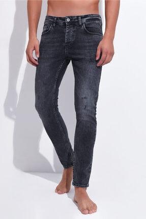 Erkek Siyah Dar Paça Slim Fit Kot Pantolon 3std02080-001 3STD02080-001