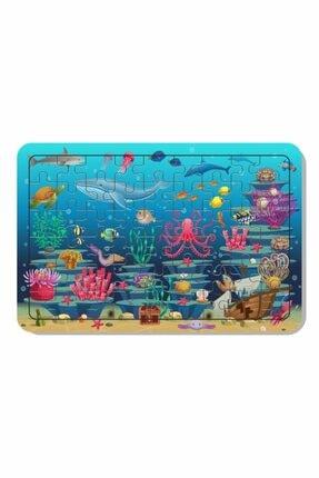 Baskı Atölyesi 54 Parça Ahşap Puzzle Deniz Canlıları 0