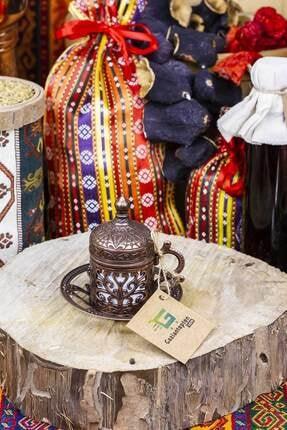 Gaziantepten Bakır Döküm Kahve Fincanı Takımı Seti 1