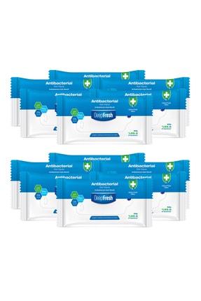 Deep Fresh Antibakteriyel Islak Cep Mendili 12'li Paket 180 Yaprak 1