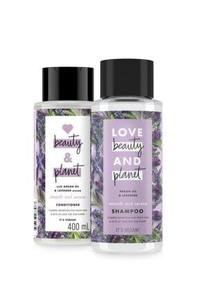 Love Beauty and Planet Argan Yağı Ve Lavanta Özlü Şampuan 400 Ml + Saç Kremi 400 Ml 1