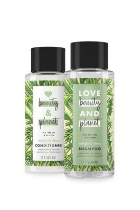 Love Beauty and Planet Çay Ağacı Yağı Ve Vetiver Özlü Şampuan 400 Ml + Saç Kremi 400 Ml 1
