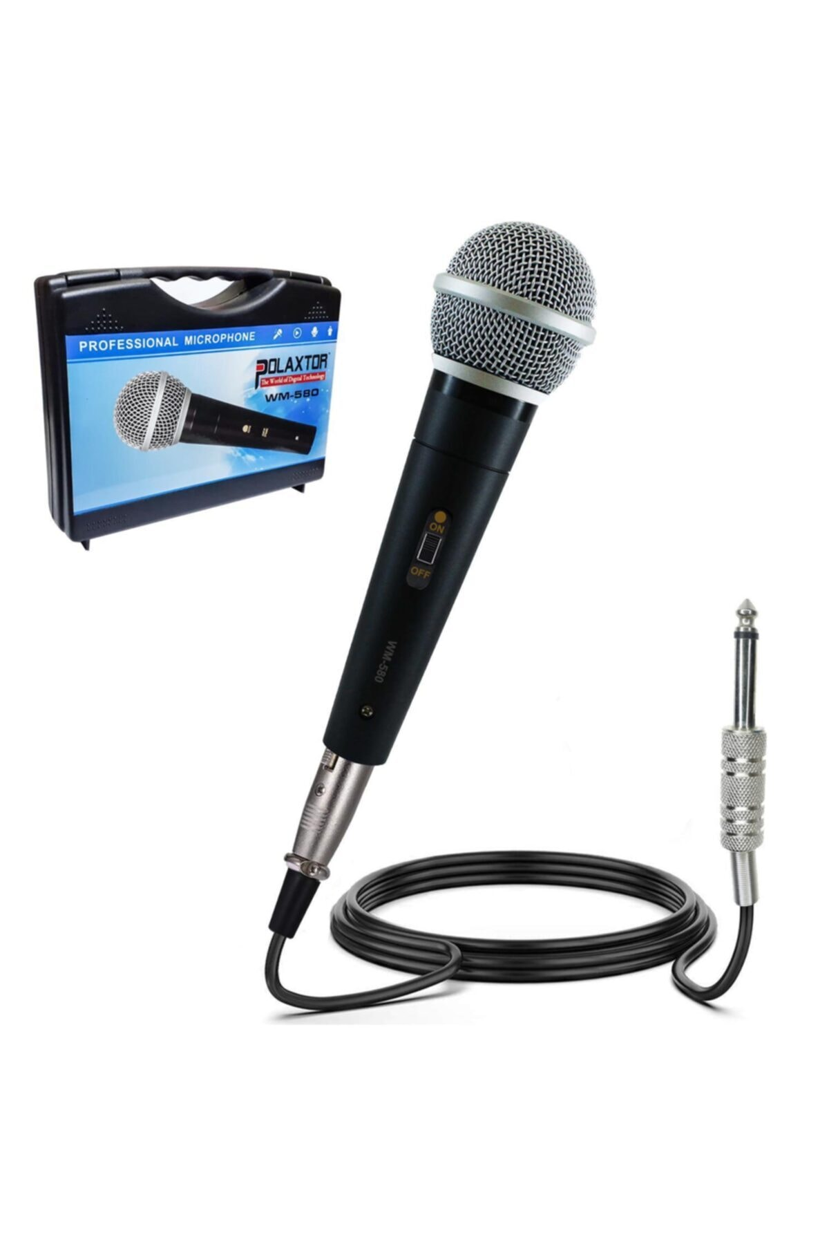 El Mikrofonu Dinamik 5 Metre Metal Çantalı Wm-580