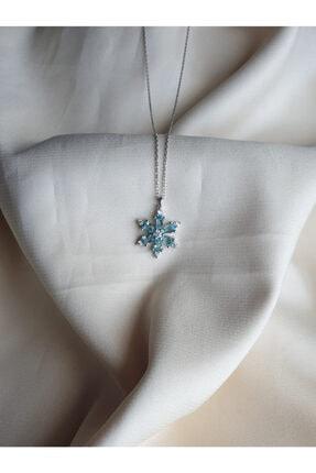 AME SOEUR 925 Ayar Gümüş Mavi Mistik Kolye 1