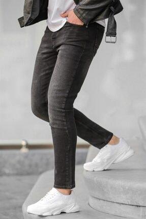 Madmext Erkek Siyah Slim Fit Jean 0