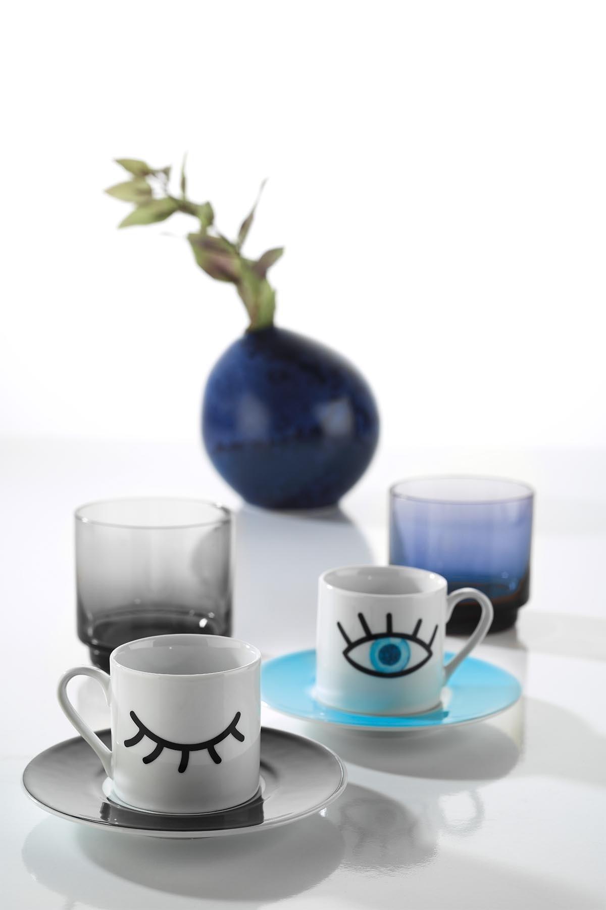 Rüya 11008 Desen Kahve Fincan Takımı