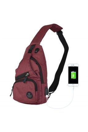 My Valice Unisex Bordo Smart Bag Usb'li Çapraz Göğüs Çantası 2