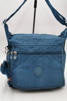 Mavi Çok Cepli Çapraz Askılı Omuz Çantası 571-3-4D