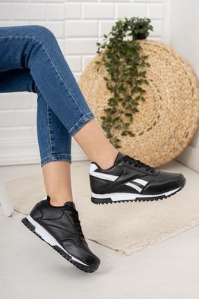 Moda Değirmeni Kadın Siyah Beyaz Sneaker Md1053-101-0001 2