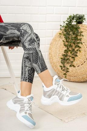 Moda Değirmeni Kadın Gri Mavi Sneaker Md1054-101-0001 2