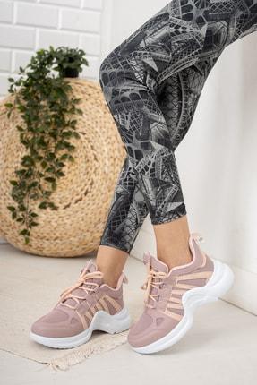 Moda Değirmeni Kadın Gül Kurusu Sneaker Md1054-101-0001 1