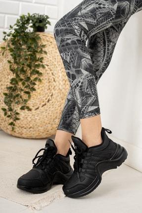 Moda Değirmeni Kadın Siyah Sneaker Md1054-101-0001 1