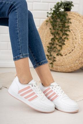 Moda Değirmeni Kadın Beyaz Pudra Sneaker Md1053-101-0002 0