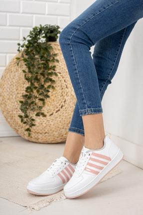 Moda Değirmeni Kadın Beyaz Pudra Sneaker Md1053-101-0002 1