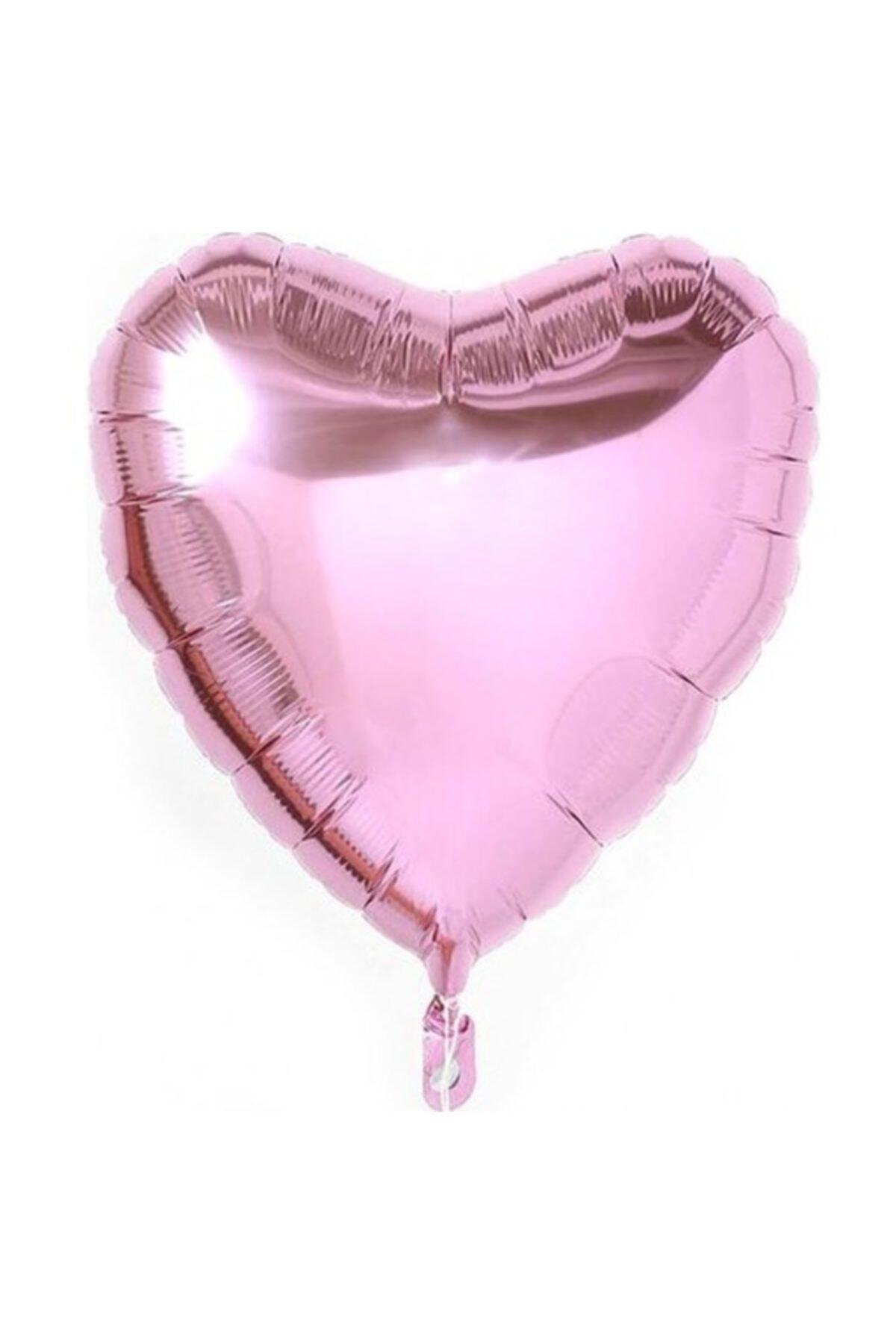 Pembe Kalp Folyo Balon 45 Cm