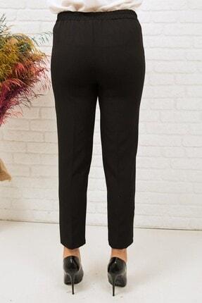 Miss Anka Kadın Siyah Beli Lastikli Kumaş Pantolon 3