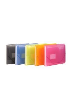 KRAF Körüklü Dosya Lastikli 13 Cepli A4 Yeşil 0