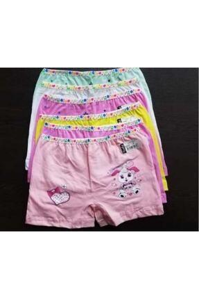 Tutku Kız Çocuk 6'lı Renkli Işlemeli Boxer Külot 1