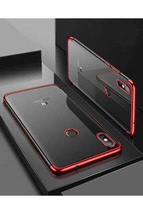 Dijimedia Xiaomi Mi 8 Köşeleri Renkli Şeffaf Kaliteli Kamera Korumalı Kılıf 2