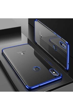 Dijimedia Xiaomi Mi 8 Köşeleri Renkli Şeffaf Kaliteli Kamera Korumalı Kılıf 3