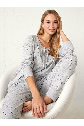 LC Waikiki Kadın Gri Pijama Takımı 0