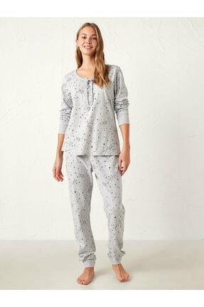 LC Waikiki Kadın Gri Pijama Takımı 1