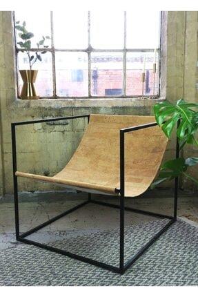 sohomanje Gerçek Deri Küp Metal Sandalye 0