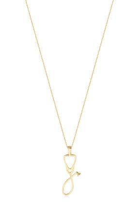 Gelin Pırlanta Kadın Altın Gelin Diamond 14 Ayar Pırlantalı Steteskop Kolye 2