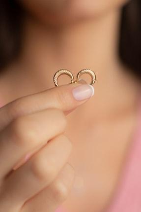 Gelin Pırlanta Gelin Diamond 14 Ayar Altın Halka Küpe (1.3 Cm) 3