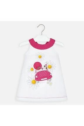Picture of 20-3960 Çocuk Beyaz-Pembe Elbise