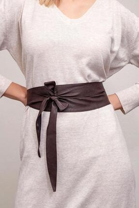 Modex Kadın Koyu Kahverengi Kuşaklı Bel Kemeri 0