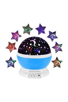 HediyeFilesi Dönen Projeksiyon Gece Lambası Star Master Ay Yıldız Led - Mavi 1