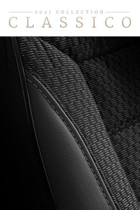 Deluxe Boss Classico Oto Koltuk Kılıfı - 2021 Collection - Özel Dokulu Gri Detaylı 4