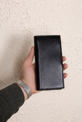 Leyl Hakiki Deri Erkek Telefon Bölmeli Büyük Cüzdan Mıknatıslı Portföy Organizer Para Cüzdanı 1