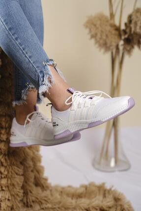 Oksit Infinite Renk Detaylı Fileli Kalın Taban Kadın Sneaker 2