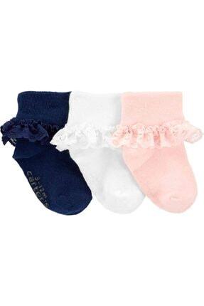 Carter's Kız Bebek 3'lü Çorap 0