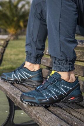 Ayakkabix Erkek Siyah Petrol Ferrani Günlük Spor Ayakkabı 1