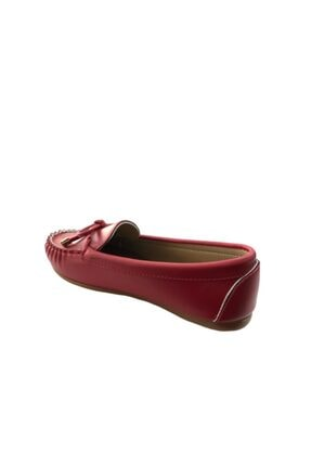 Kadın Kırmızı Fiyonklu Ayakkabı Babet Babet Kırmızı Fiyonklu Ayakkabı