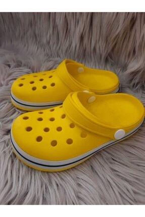 Akınalbella Çocuk Sarı Beyaz Lacivert Crocs Terlik 1