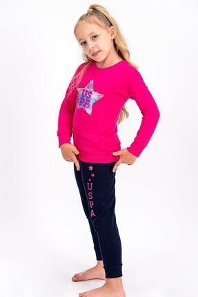 US Polo Assn Fuşya Lisanslı Kız Çocuk Eşofman Takımıı 1